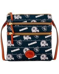 Dooney & Bourke - Nfl Oakland Raiders North South Triple Zip Shoulder Bag - Lyst