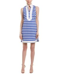 Sail To Sable - Sleeveless High-neck Striped Tunic Dress - Lyst
