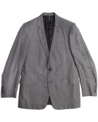 Dior - Men's Cotton Pinstriped Two-button Suit Grey White - Lyst