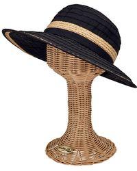 San Diego Hat Company - Face Saver Wide Brim Hat With Raffia Inset Rbl4820 - Lyst