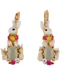 Les Nereides - Loves Animals Rabbit's Family And Stone Earrings - Lyst