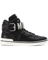 Moschino - Logo Hi-top Sneakers - Lyst