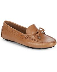 Saks Fifth Avenue - Lace-up Leather Driver Shoes - Lyst