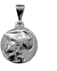 Jewelry Affairs - Sterling Silver Athena Greek Goddess Pendant, Diameter 20mm - Lyst