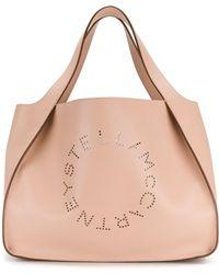 Stella McCartney - Women's Pink Leather Tote - Lyst
