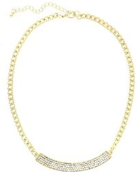 Sparkling Sage - 14k Plated Crystal & Resin Bar And Chain Necklace - Lyst