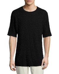 Twenty - Solid High-low Crew T-shirt - Lyst
