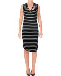 LNA - Womens Blake Mid-calf Pullover Bodycon Dress - Lyst