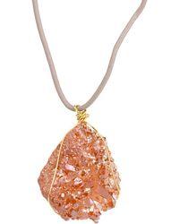 Saachi - Druzy Pendant Necklace - Lyst