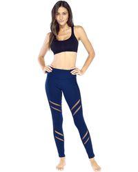 8ffa54aebd845 Lyst - Electric Yoga Knee V Line Mesh Legging in Gray