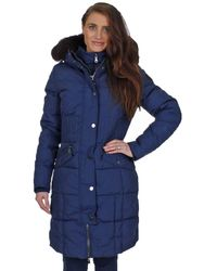 Pajar - Womens Annie Temperature Rated 4-layer Parka Coat Navy Xl - Lyst
