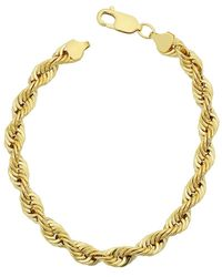 Jewelry Affairs - 14k Yellow Gold Filled Solid Rope Chain Bracelet, 6.0mm, 8.5 - Lyst