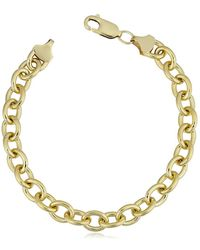 Jewelry Affairs - 14k Yellow Gold Filled Rolo Chain Bracelet, 7.6mm, 8.5 - Lyst