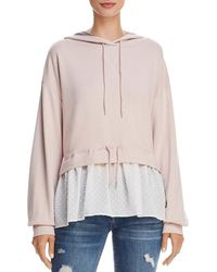 French Connection - Womens Cantin Illusion Layered Sweatshirt - Lyst