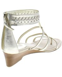 Ralph Lauren - Lauren Womens Meira Leather Ankle Cuff Wedge Sandals - Lyst