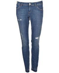 Re-hash - Women's Blue Cotton Jeans - Lyst