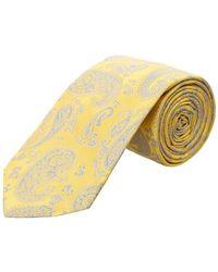 Ike Behar - Yellow Paisley Silk Tie - Lyst