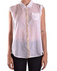 Marithé et François Girbaud - Women's White/black Cotton Shirt - Lyst