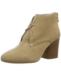 French Connection - Womens Dinah Suede Stacked Heel Ankle Boots - Lyst