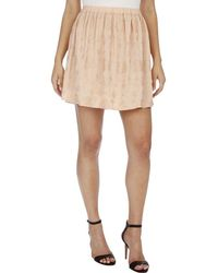 Lucky Brand - Embroidered Mini A-line Skirt - Lyst