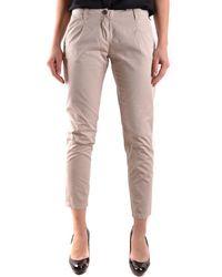 Etiqueta Negra | Women's Beige Cotton Pants | Lyst