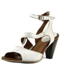 Miz Mooz - Marie Women Open-toe Leather White Heels - Lyst