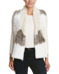 Love Token - Genuine Rabbit Fur Vest - Lyst