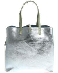 Manila Grace - Women's Silver Leather Tote - Lyst