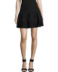 The Letter - Lace Hem Mini Skirt - Lyst