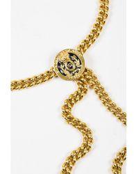 St. John - 1 Gold Tone Chain Link Medallion Belt - Lyst