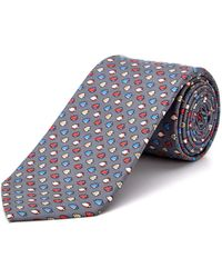 Cole Haan - Grey Fishy Fishy Silk Tie - Lyst
