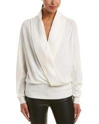 Reiss - Blanche Wool-blend Wrap Sweater - Lyst