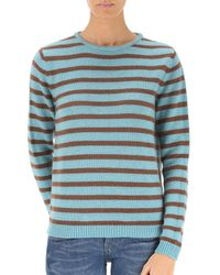 Stella Jean - Women's Light Blue Wool Jumper - Lyst