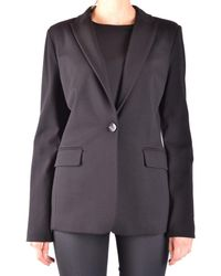 Pinko - Women's Black Viscose Blazer - Lyst