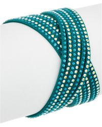 Swarovski - Crystal Leather Wrap Bracelet - Lyst