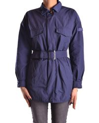 Peuterey - Women's Blue Polyester Trench Coat - Lyst