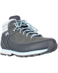 Helly Hansen - Tryvann 534 Trail Running Shoes - Charcoal/light Grey/secret Blue - Lyst