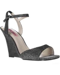 Betsey Johnson - Duane Wedge Ankle Strap Dress Sandals - Lyst