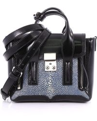 3.1 Phillip Lim - Pre Owned Pashli Satchel Stingray And Leather Mini - Lyst