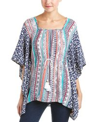 Ella Moss - Placed Caftan Top - Lyst