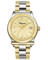 Ferragamo - 1898 Men's Stainless Steel Watch, Model: Ff3340017 - Lyst