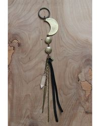Love Leather - Moon Catcher Key Ring - Lyst