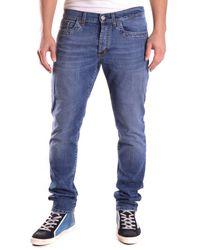 Dirk Bikkembergs - Men's Cq61bfjsb093155b Blue Cotton Jeans - Lyst