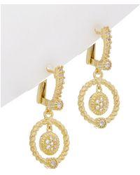 Judith Ripka - La Petite 14k Over Silver 0.40 Ct. Tw. White Topaz Drop Earrings - Lyst
