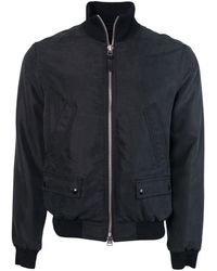 Tom Ford - Men Black Satin Twill Light Fill Blouson Sport Jacket - Lyst