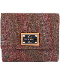 Etro - Women's 0h5268020600 Multicolor Fabric Wallet - Lyst