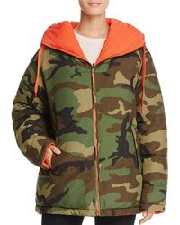 Kendall + Kylie - Reversible Camouflage Down Jacket - Lyst