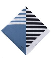 Tom Ford - Men's Blue Abstract Striped Silk Pocket Square - Lyst