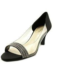 Caparros - Fancy Women Open-toe Canvas Black Heels - Lyst