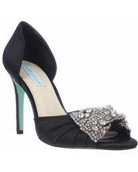 Betsey Johnson - Blue By Gown Dress Sandals - Black - Lyst